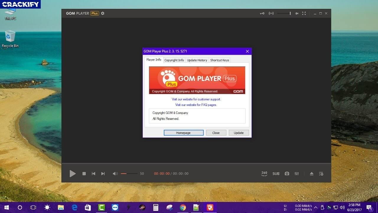 GOM Player 2.3.62.5326 Crack + Serial Key Free Download